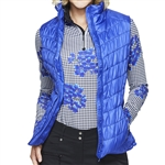 GG Blue Venus Quilted Vest - Clematis