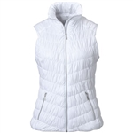 GG Blue Venus Quilted Vest - White
