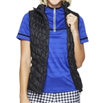 GG Blue Venus Quilted Vest - Black