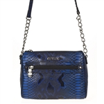 Cutler Garbo Blue Lizard Purse