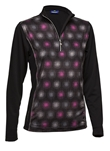 Daily Sports Belle Long Sleeve Mock Top - Black