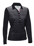 Daily Sports Kit Long Sleeve Golf Polo - Navy