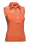 Daily Sports Cassidy Sleeveless Polo - Clementine