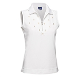 Daily Sports Holiday Phyllis Sleeveless Polo - White