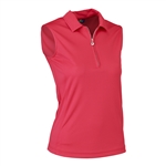 Daily Sports Macy Sleeveless Tomato Red Polo