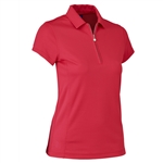 Daily Sports Macy Cap Sleeve Golf Polo - Tomato Red