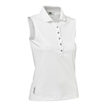 Daily Sports Mindy Sleeveless Polo - White