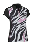 Daily Sports Leja Cap Sleeve Golf Polo - Zebra