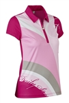 Daily Sports Lottie Sleeveless Golf Polo - Raspberry