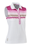Daily Sports Lucy Sleeveless Polo - Rosebloom