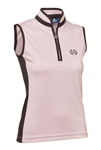 Daily Sports Marge Sleeveless Mock Top - Rose/Black