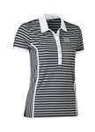 Daily Sports Alexa Stripe Cap Sleeve Polo - Black