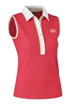 Daily Sports Shea Sleeveless Polo - Tomato