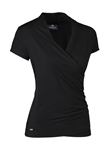 Daily Sports Cara Wrap Top - Black