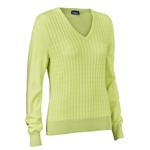 Daily Sports Campbell Sunny Lime Cable Knit Sweater