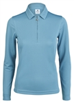 Daily Sports Macy Long Sleeve Aqua Polo