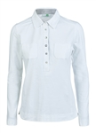 Daily Sports Oribel Long Sleeve White Polo