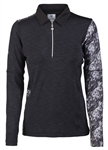 Daily Sports Wanda Long Sleeve Black Polo