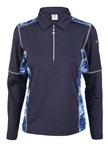 Daily Sports Otillia Long Sleeve Navy Polo