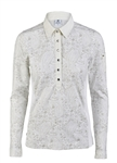 aily Sports Muriel Long Sleeve Ivory Polo