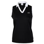 Daily Sports Kelsie Black Sleeveless Polo