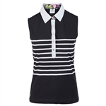 Daily Sports Gabrielle Black Sleeveless Polo