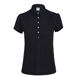 Daily Sports Majken Black Cap Sleeve Polo