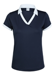Daily Sports Navy Kelsie Short Sleeve Polo