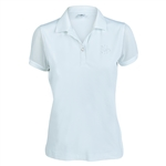 Daily Sports Tavia White Mesh Cap Sleeve Polo