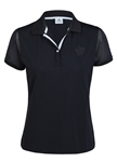 Daily Sports Tavia Black Mesh Cap Sleeve Polo