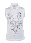 Daily Sports Karelia White Sleeveless Polo
