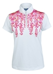 Daily Sports Paeonia White Short Sleeve Polo