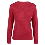 Daily Sports Campbell Tomato Cable Knit Sweater