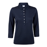 Daily Sports Mindy 3/4 Sleeve Polo - Navy