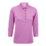 Daily Sports Mindy 3/4 Sleeve Polo - Veronica