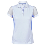Daily Sports Atlanta Mesh Sleeve Polo - Heaven