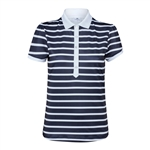 Daily Sports Kellie Navy/White Stripe Cap Polo