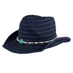 Daily Sports Chap Western Hat - Navy