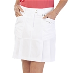 GG Blue Birdie Golf Skort - White