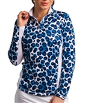 SanSoleil SolTek UPF50 Long Sleeve Mock - Jaguar Blue