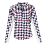 SanSoleil SunGlow 50+ Long Sleeve Tops - Watson Houndstooth