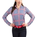 SanSoleil SunGlow 50+ Long Sleeve Mock - Watson Houndstooth