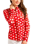 SanSoleil SolTek UPF50+ Long Sleeve Mock - Spot on Red