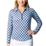 SanSoleil SolCool UV50 Tops - Seeing Spots Navy