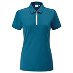 PING Noa Short Sleeve Polka Dot Polo - Teal