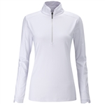 PING Melrose Long Sleeve White Golf Top