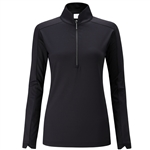 PING Melrose Long Sleeve Black Golf Top