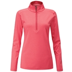 PING Astrid Half-Zip Mid-Layer Pullover - Cherry Red Marl