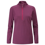 PING Astrid Half-Zip Mid-Layer Pullover - Grape Marl