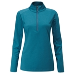 PING Astrid Half-Zip Mid-Layer Pullover - Teal  Marl